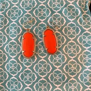 Kendra Scott orange and gold earrings